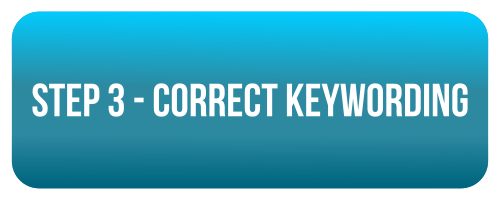 step 3 - correct keywording